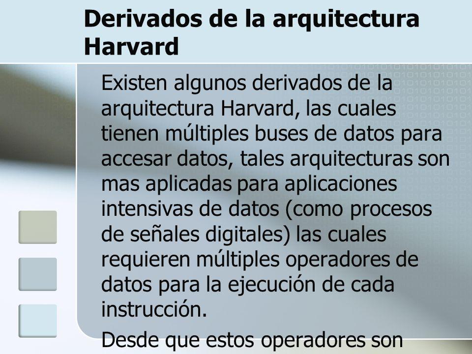 Derivados de la arquitectura Harvard