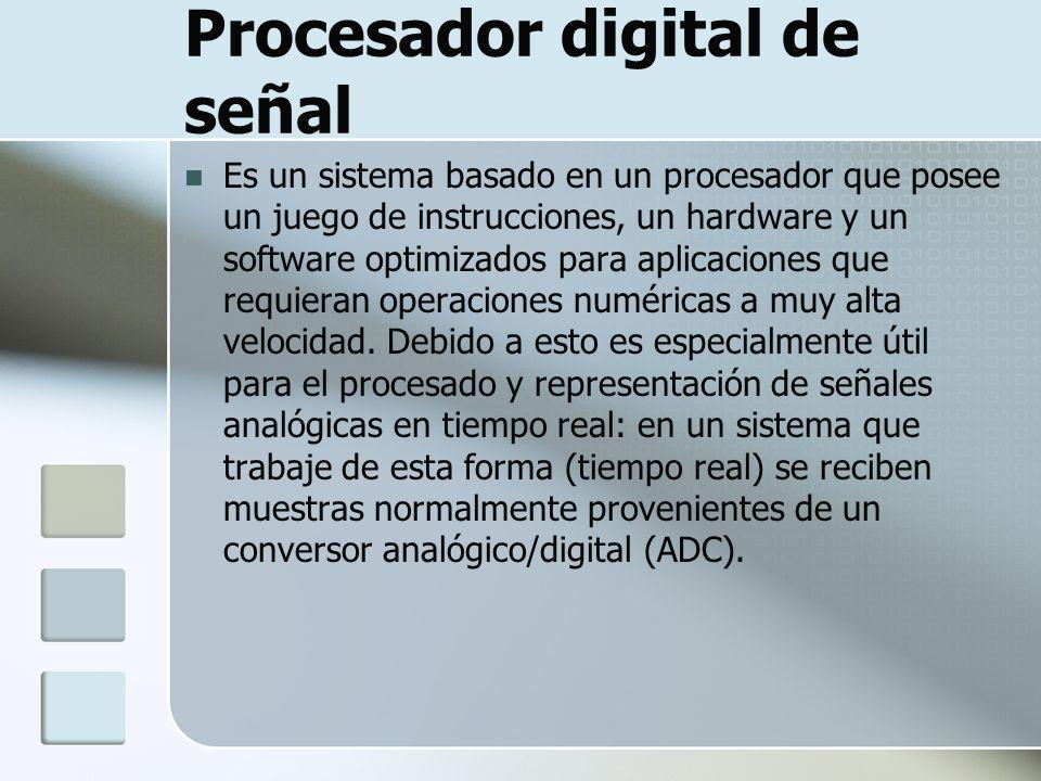 Procesador digital de señal