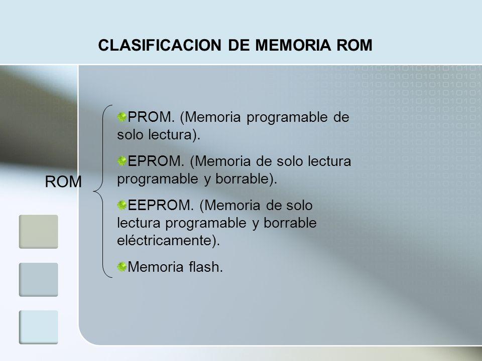 CLASIFICACION DE MEMORIA ROM
