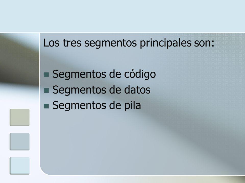 Los tres segmentos principales son: