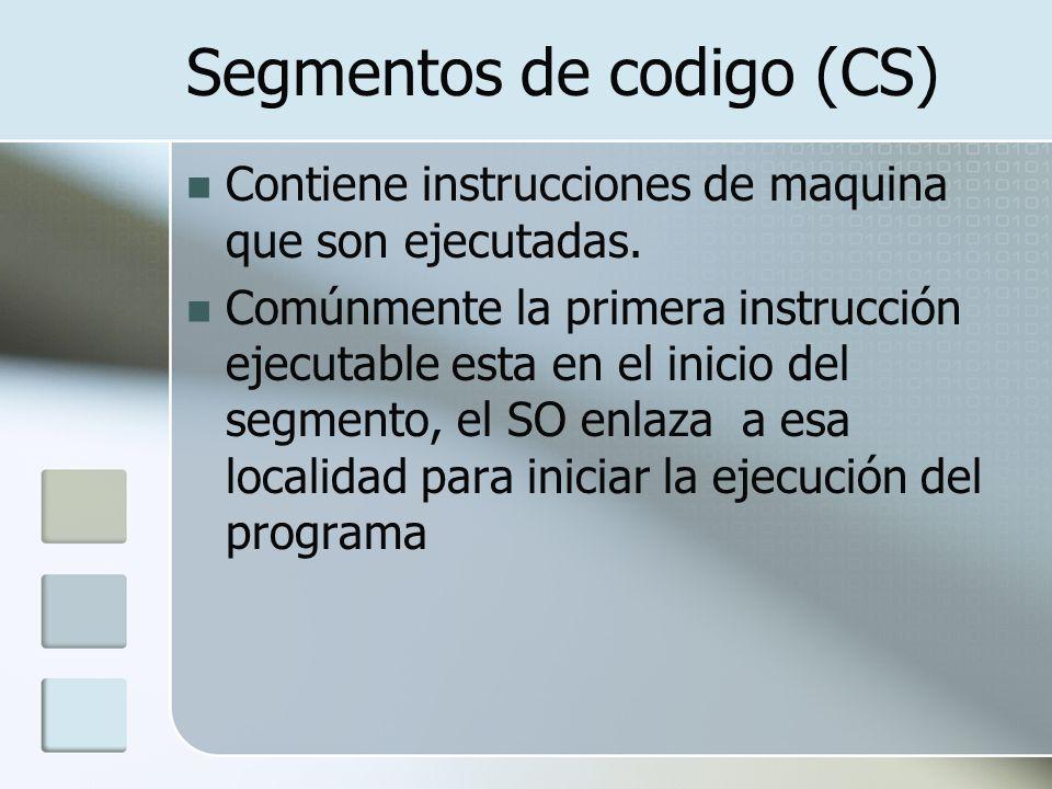 Segmentos de codigo (CS)