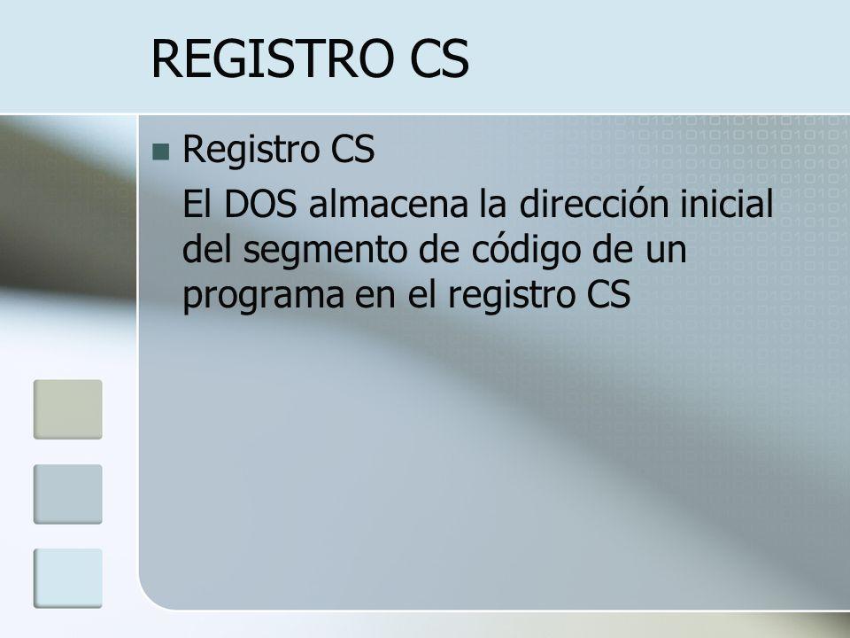 REGISTRO CS Registro CS