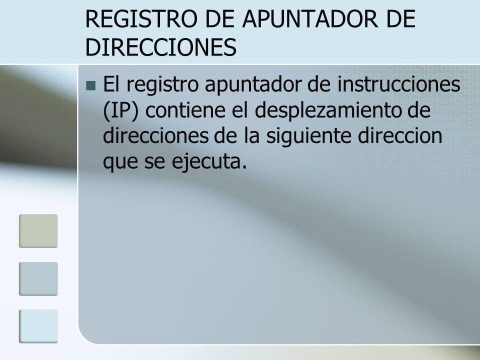 REGISTRO DE APUNTADOR DE DIRECCIONES