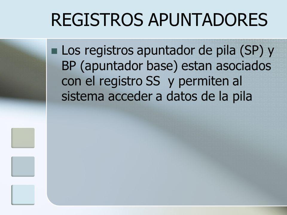 REGISTROS APUNTADORES