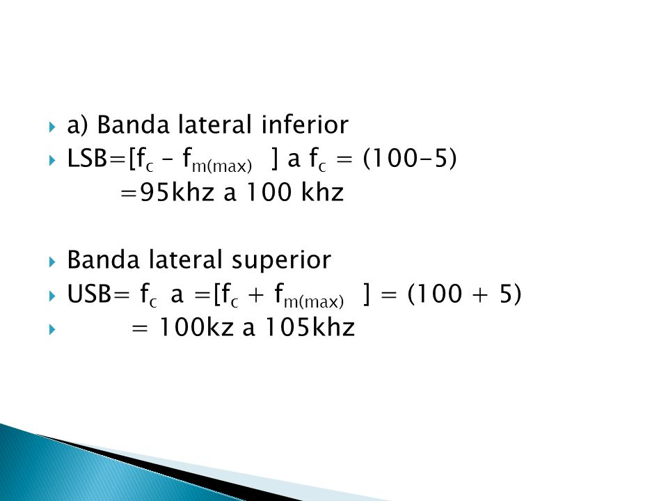 a) Banda lateral inferior