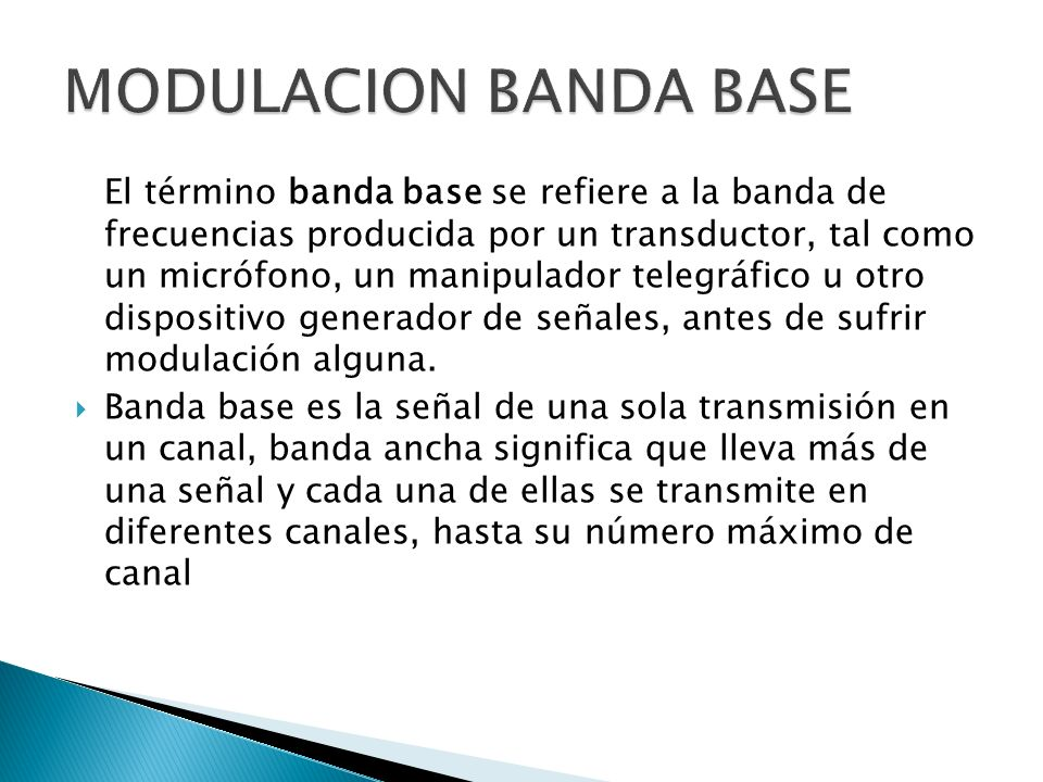 MODULACION BANDA BASE