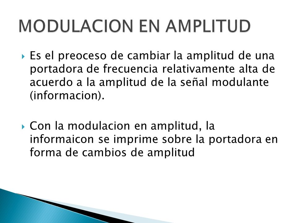 MODULACION EN AMPLITUD