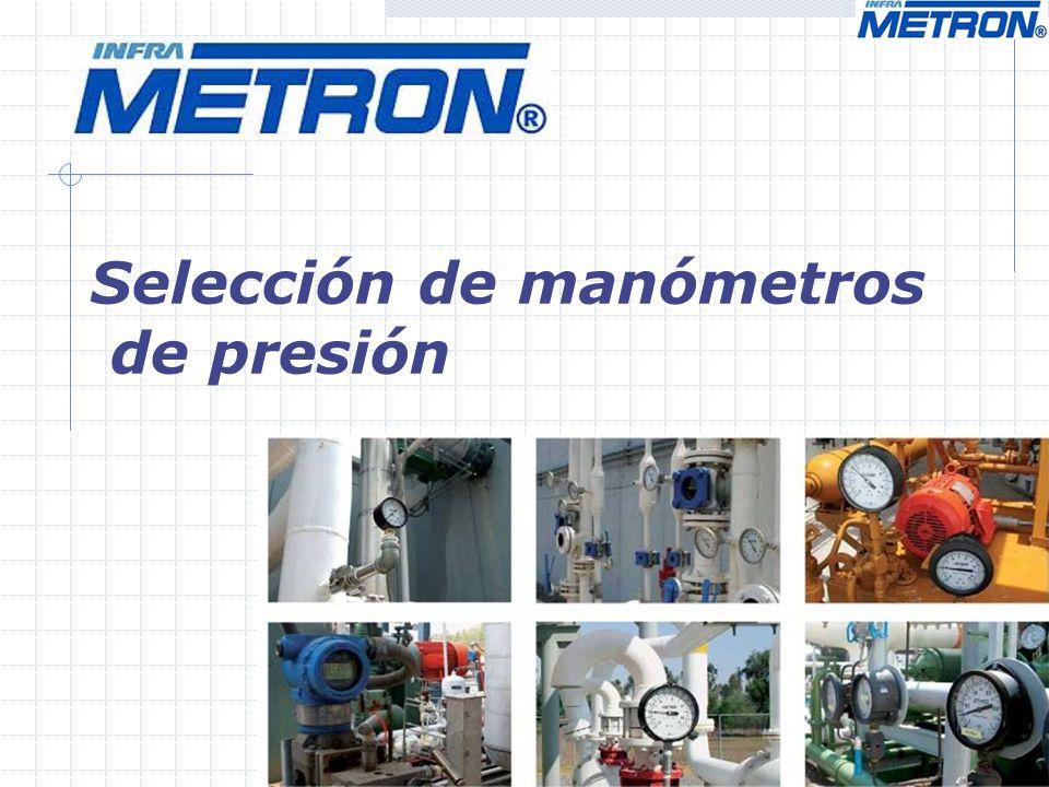 Selección de manómetros