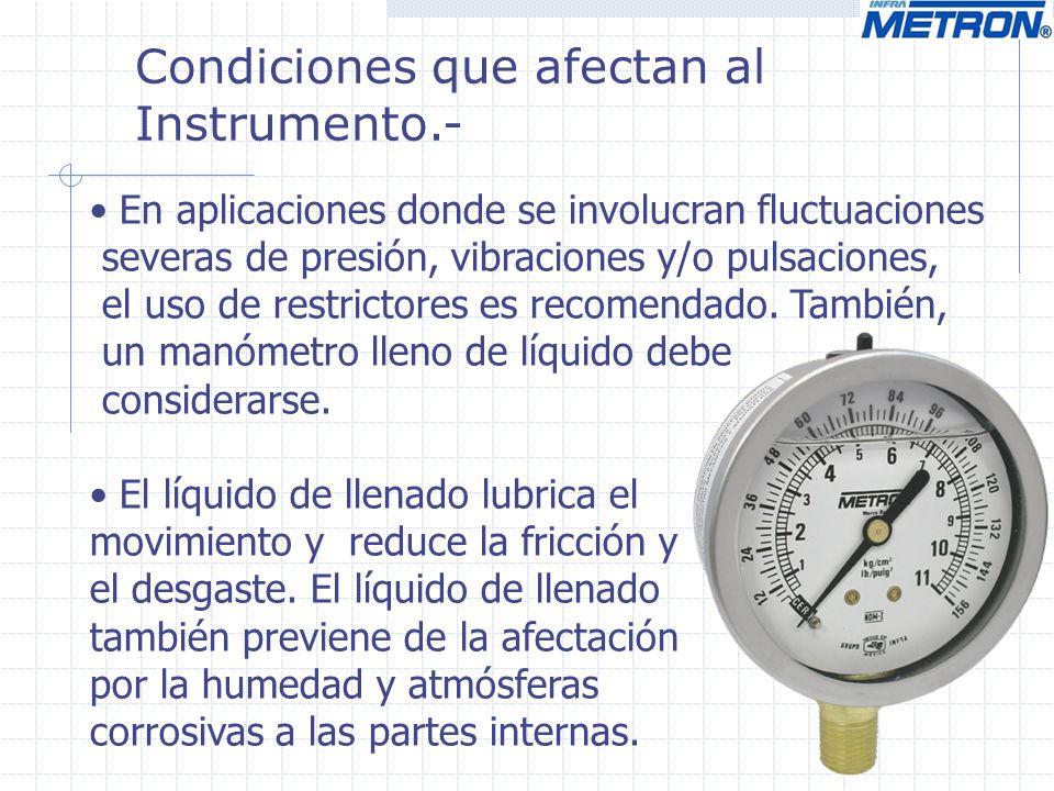 Condiciones que afectan al Instrumento.-