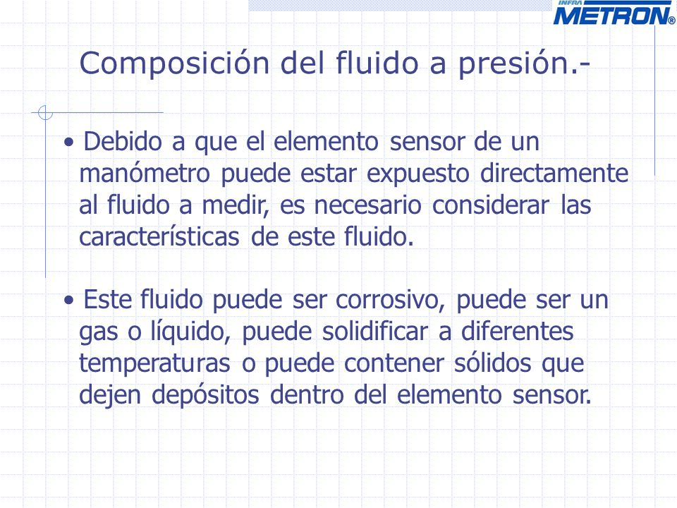 Composición del fluido a presión.-