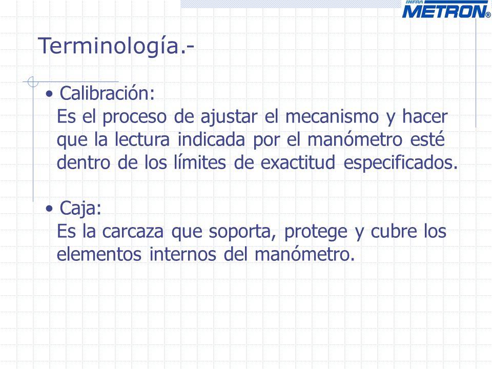 Terminología.- Calibración: