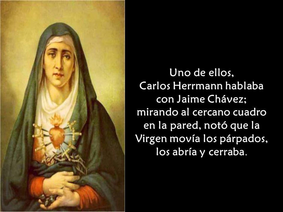 Carlos Herrmann hablaba con Jaime Chávez;
