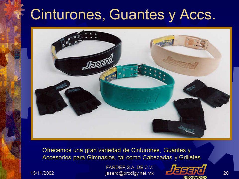 Cinturones, Guantes y Accs.