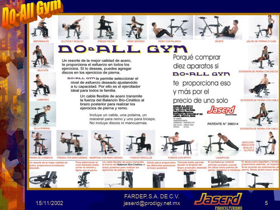 Alicaciones del Do-All Gym