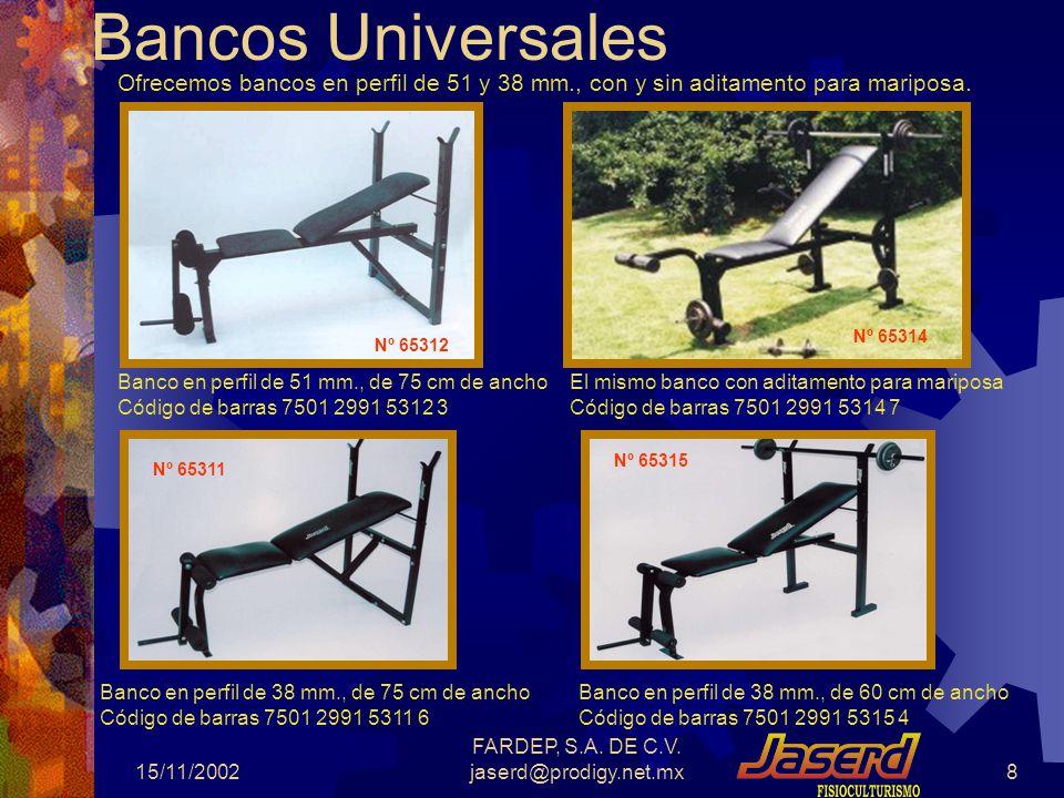 FARDEP, S.A. DE C.V. jaserd@prodigy.net.mx