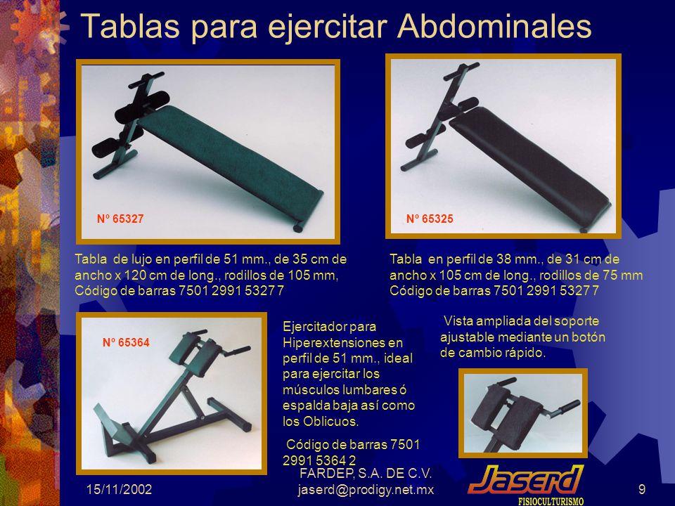 Tablas para ejercitar Abdominales