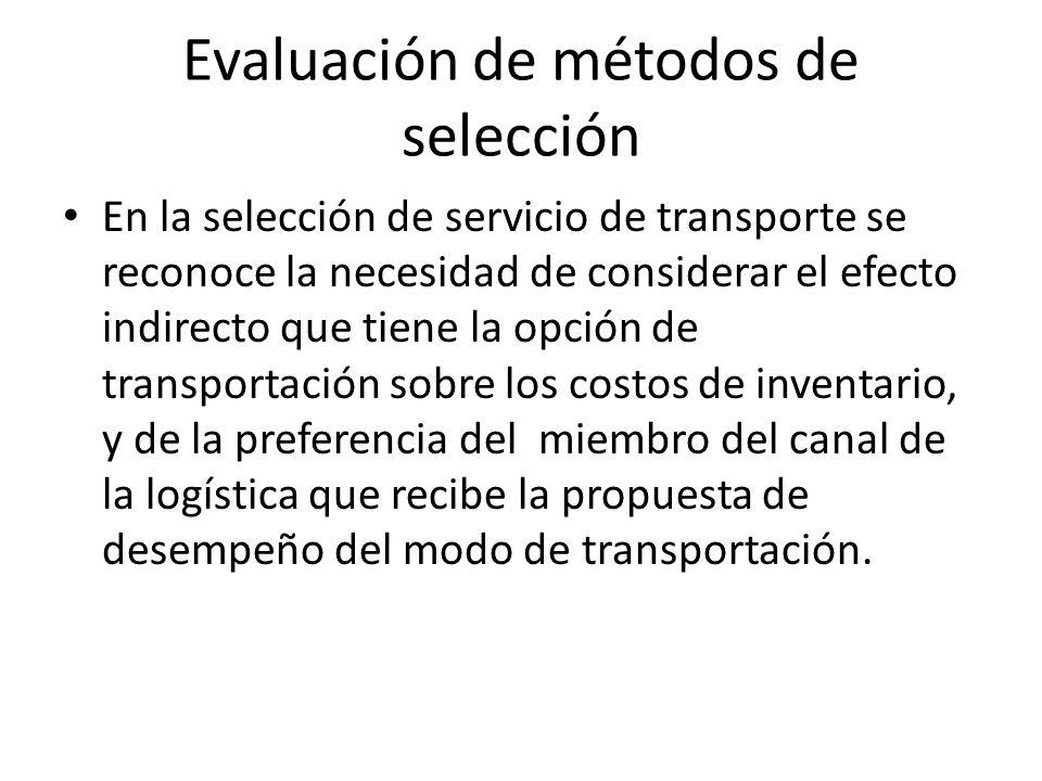 Evaluación de métodos de selección