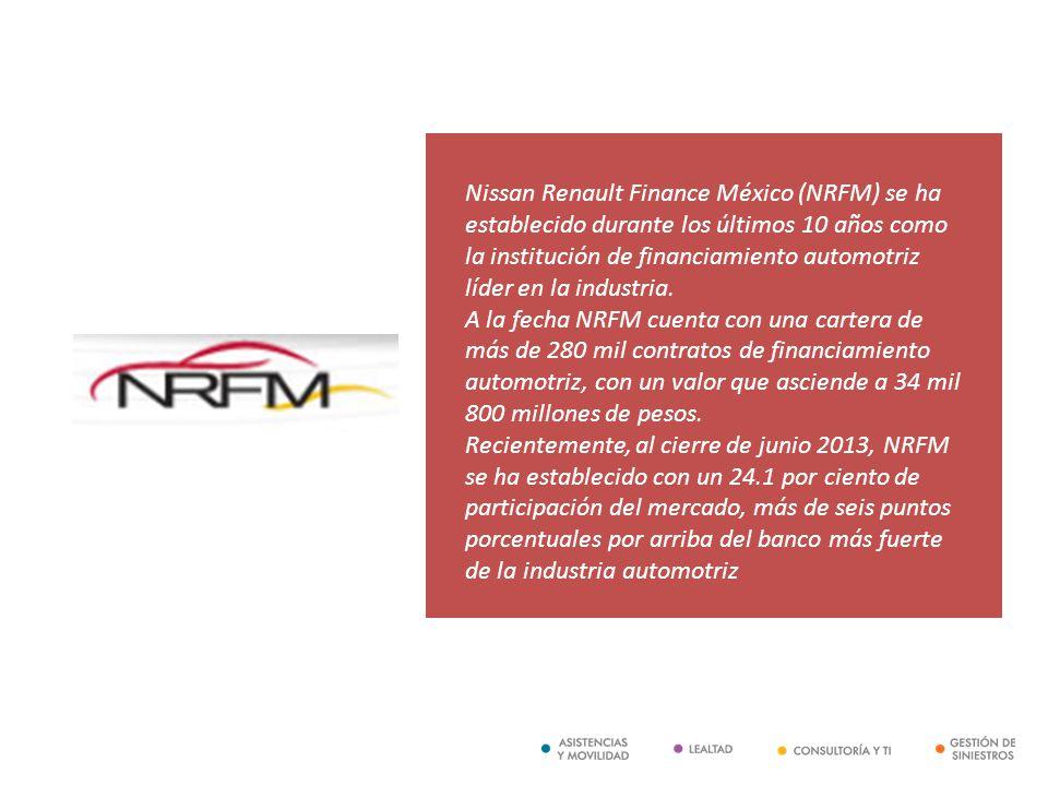 Nissan Renault Finance México (NRFM) se ha establecido durante los últimos 10 años como la institución de financiamiento automotriz líder en la industria.