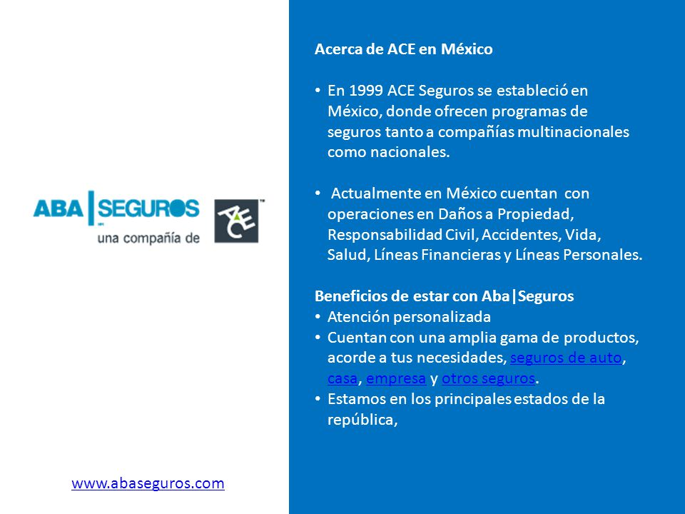 Acerca de ACE en México
