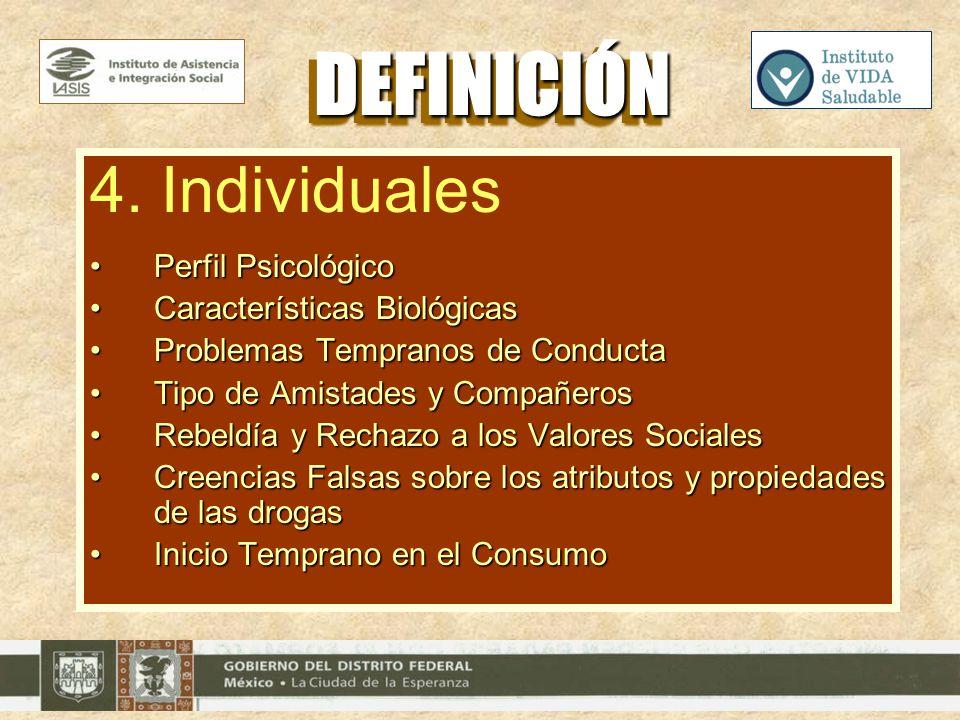 DEFINICIÓN 4. Individuales Perfil Psicológico