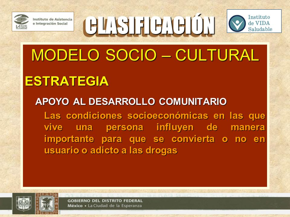 MODELO SOCIO – CULTURAL