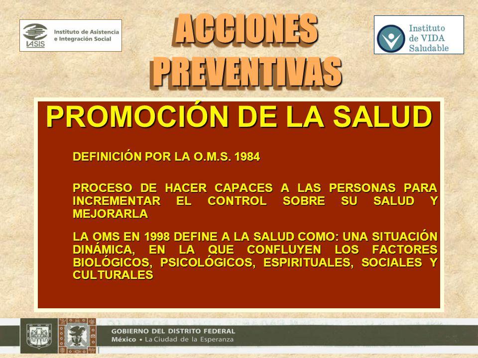 ACCIONES PREVENTIVAS PROMOCIÓN DE LA SALUD