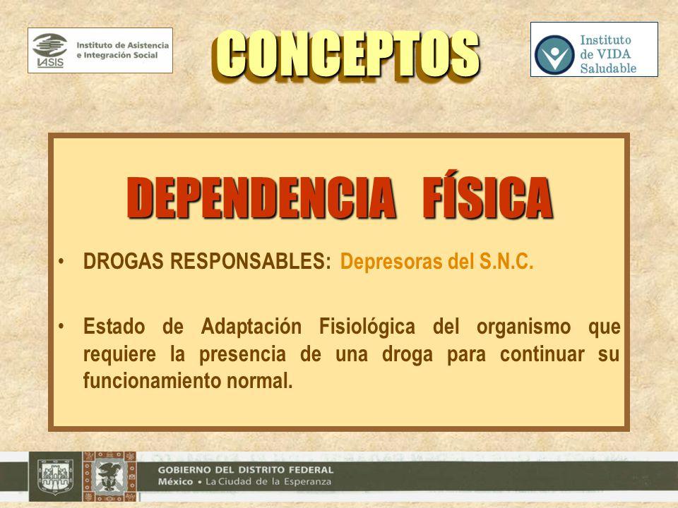 CONCEPTOS DEPENDENCIA FÍSICA