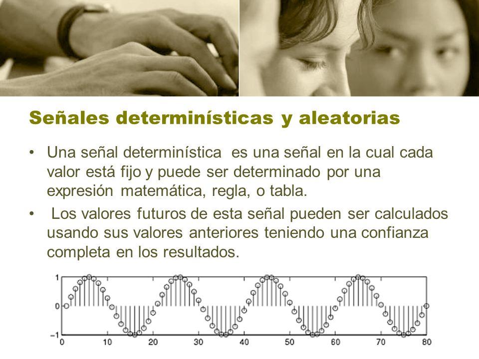 Señales determinísticas y aleatorias
