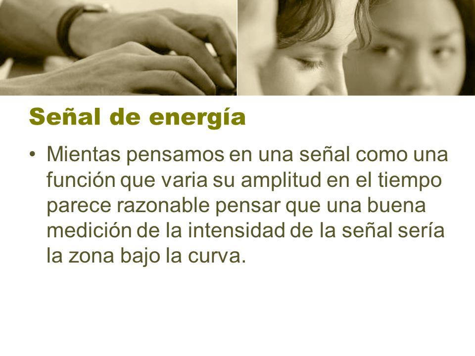 Señal de energía