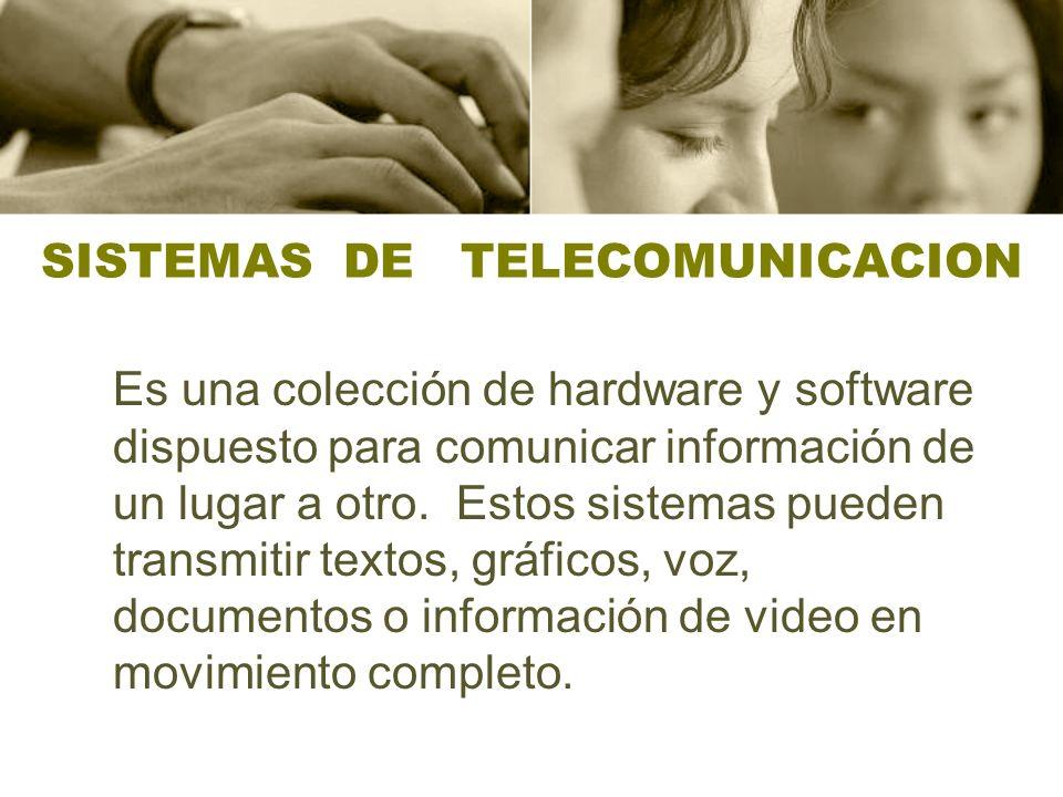 SISTEMAS DE TELECOMUNICACION