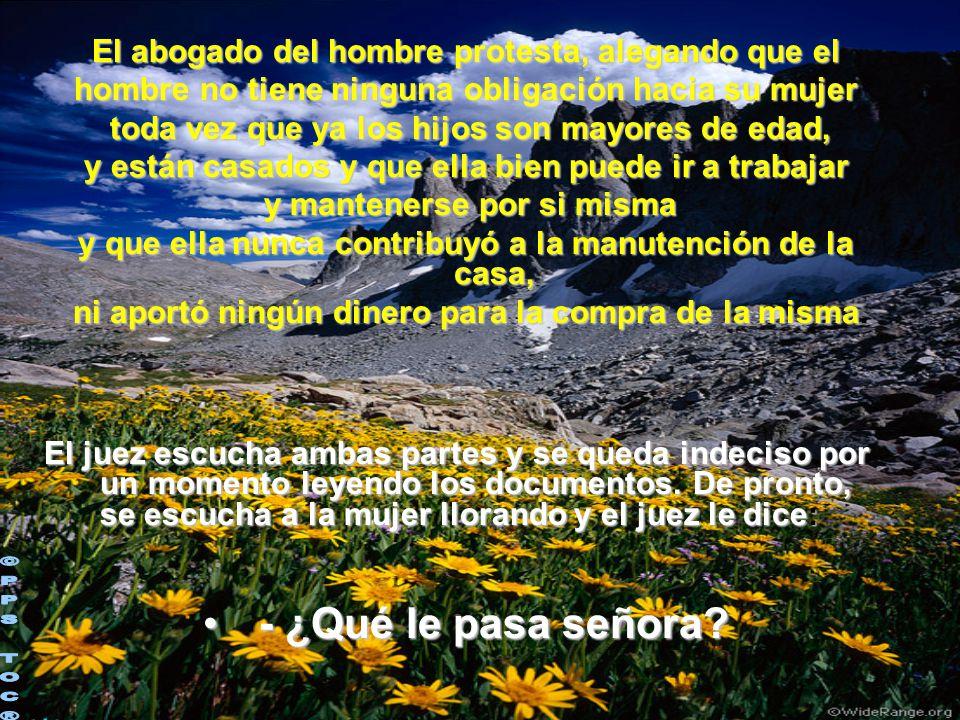 ©PPS TOC® - ¿Qué le pasa señora