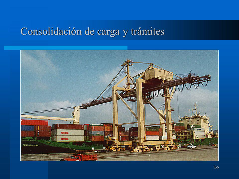 Consolidación de carga y trámites