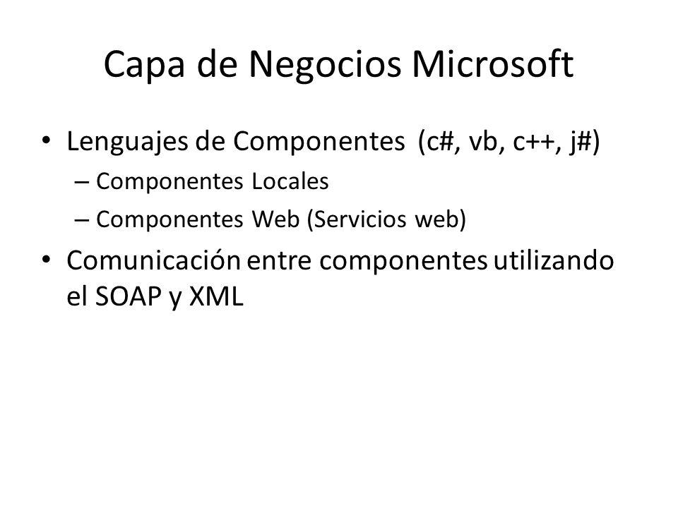 Capa de Negocios Microsoft