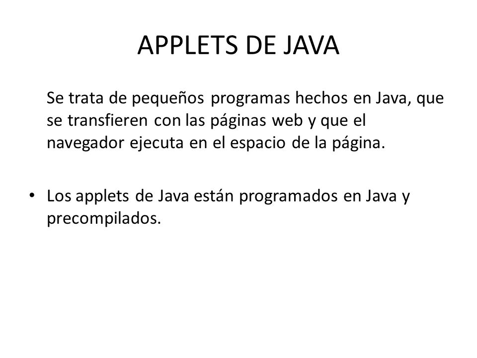 APPLETS DE JAVA