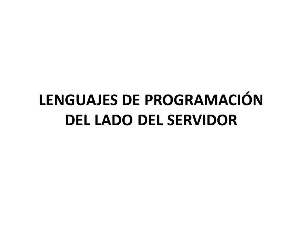 Lenguajes de programación del lado del servidor