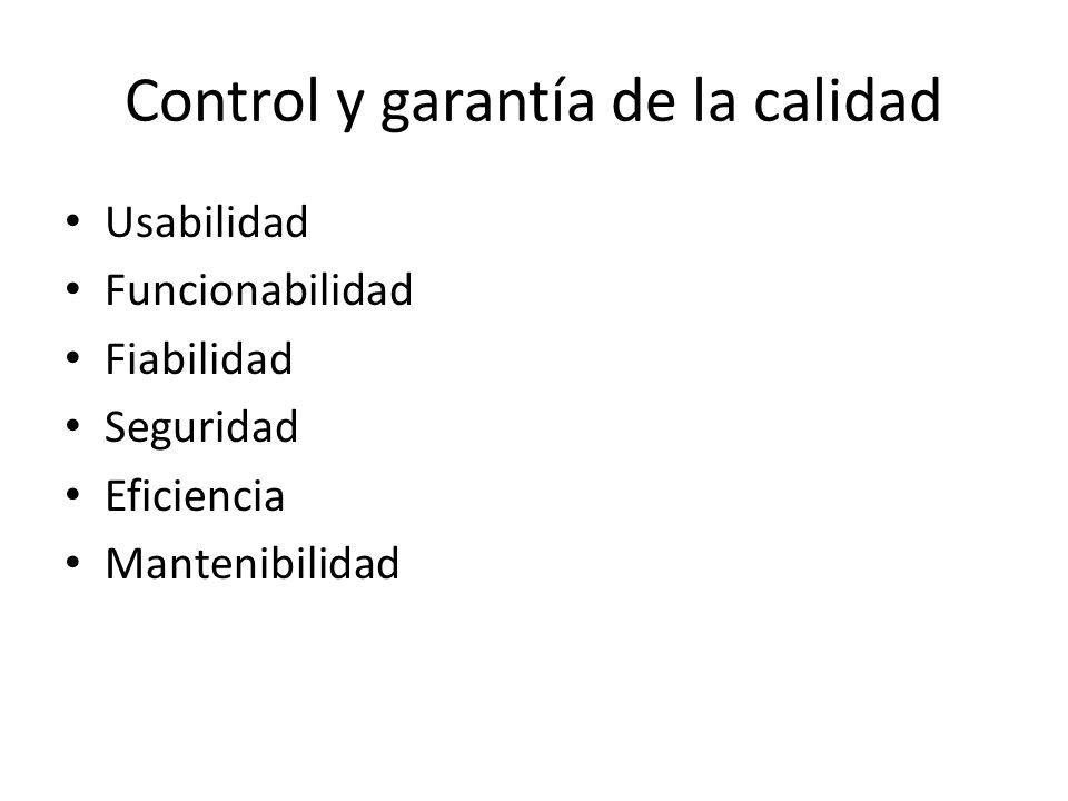 Control y garantía de la calidad