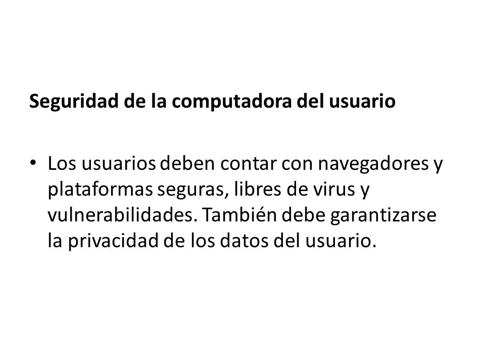 Seguridad de la computadora del usuario