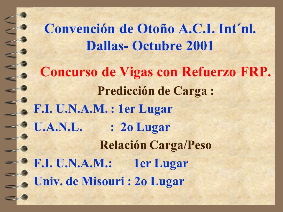 Convención de Otoño A.C.I. Int´nl. Dallas- Octubre 2001