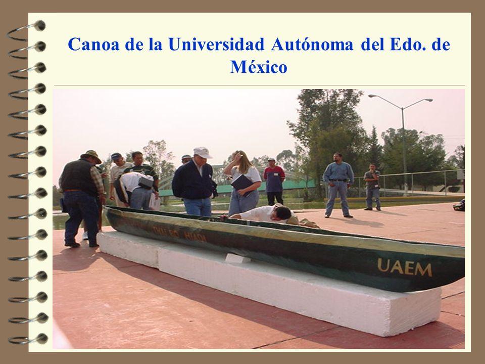Canoa de la Universidad Autónoma del Edo. de México