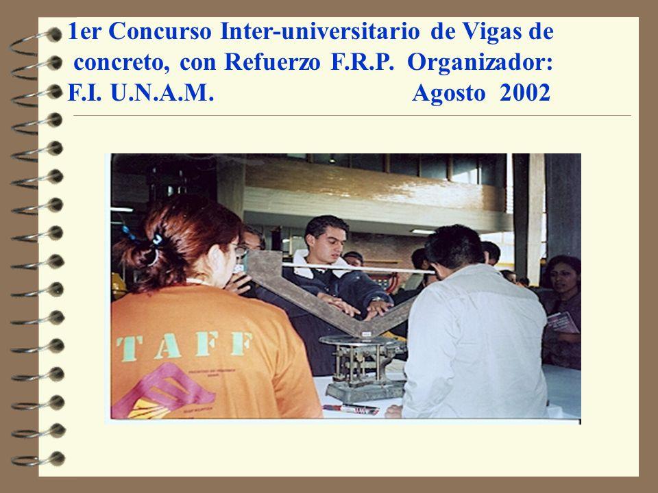 1er Concurso Inter-universitario de Vigas de