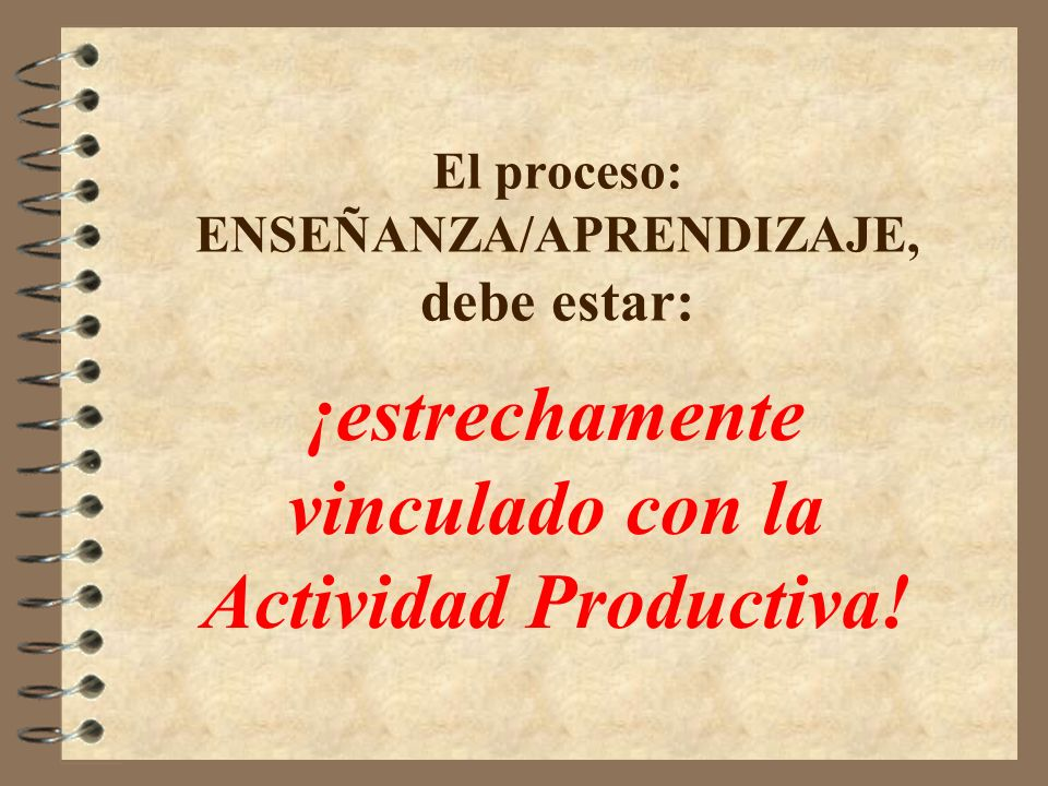 El proceso: ENSEÑANZA/APRENDIZAJE, debe estar: