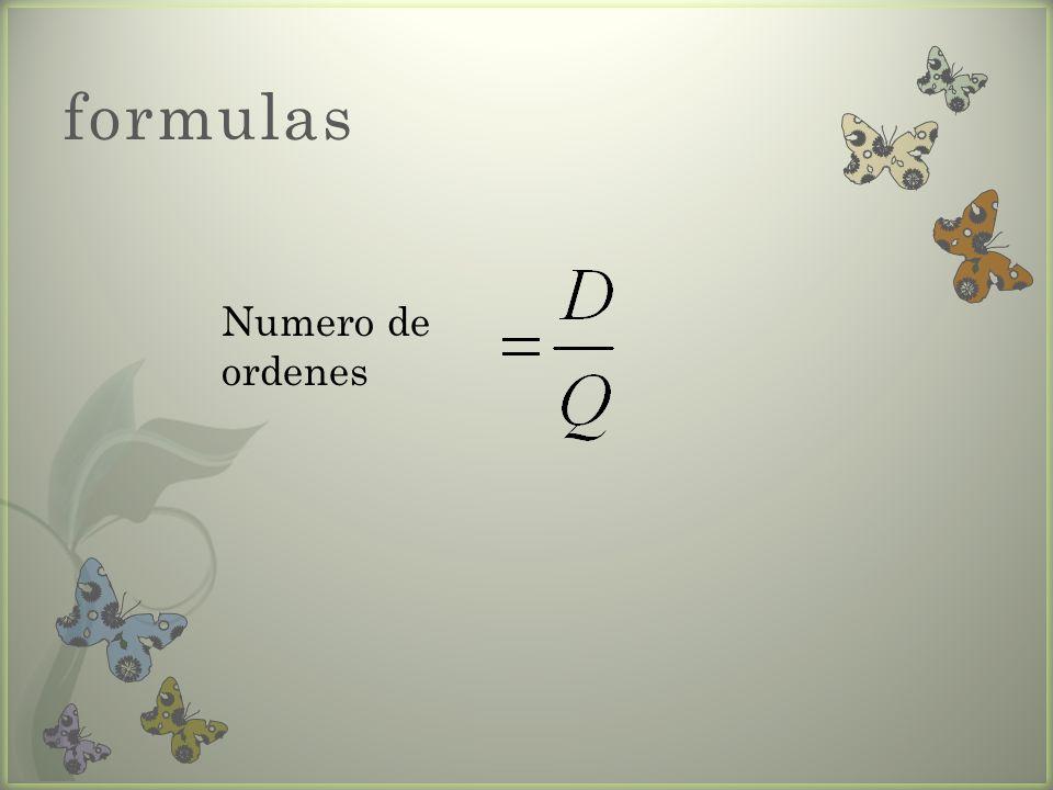 formulas Numero de ordenes
