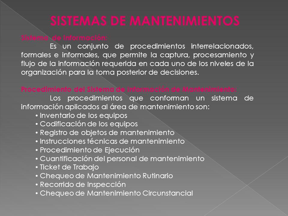SISTEMAS DE MANTENIMIENTOS