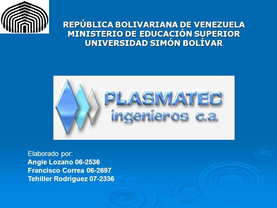 REPÚBLICA BOLIVARIANA DE VENEZUELA MINISTERIO DE EDUCACIÓN SUPERIOR UNIVERSIDAD SIMÓN BOLÍVAR