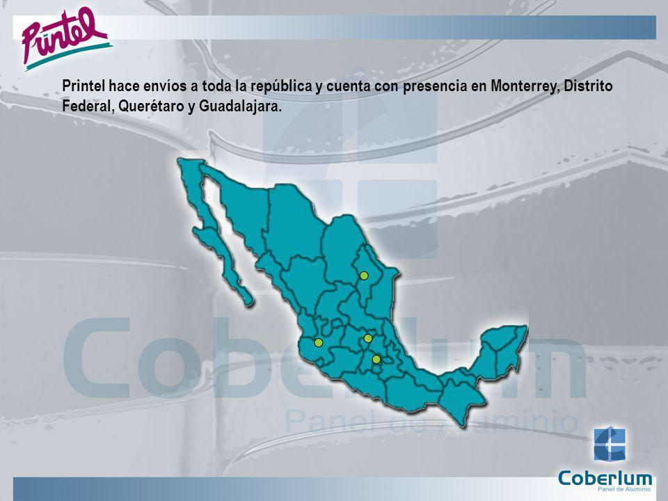 Printel hace envíos a toda la república y cuenta con presencia en Monterrey, Distrito Federal, Querétaro y Guadalajara.