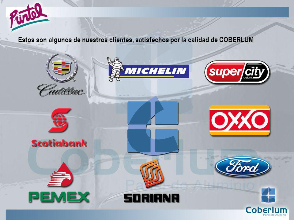 Estos son algunos de nuestros clientes, satisfechos por la calidad de COBERLUM