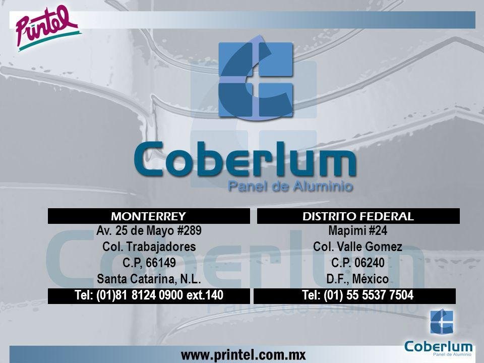 www.printel.com.mx Av. 25 de Mayo #289 Col. Trabajadores C.P, 66149