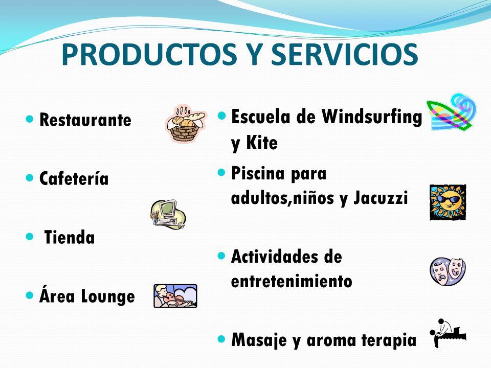 PRODUCTOS Y SERVICIOS Escuela de Windsurfing y Kite Restaurante