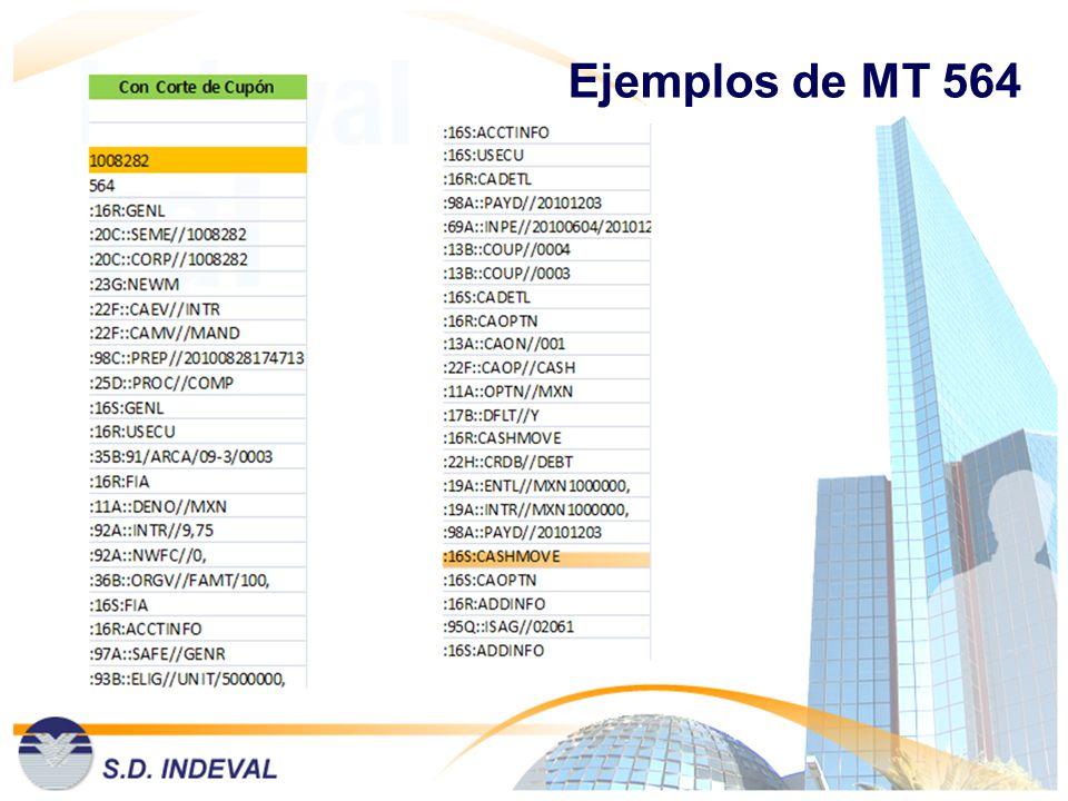 Ejemplos de MT 564