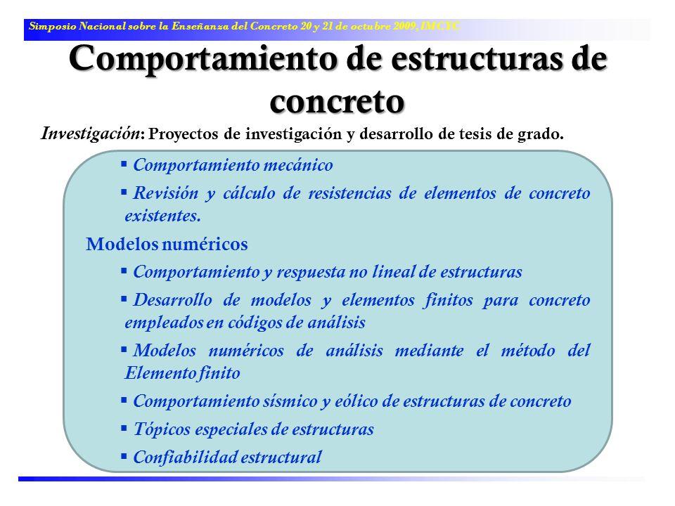 Comportamiento de estructuras de concreto